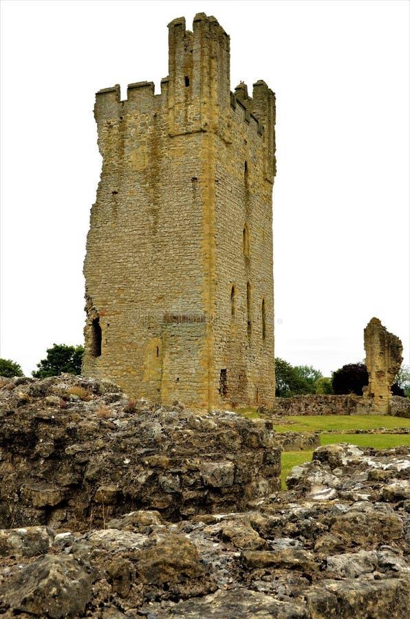 Vecchio castello in punti di riferimento di North Yorkshire - di Helmsley fotografie stock