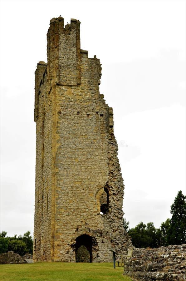 Vecchio castello in punti di riferimento di North Yorkshire - di Helmsley immagini stock