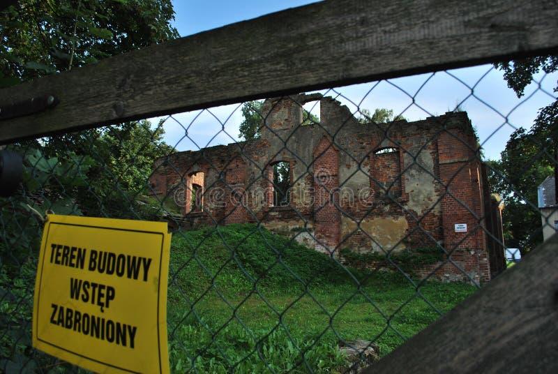 Vecchio castello rovinato immagine stock