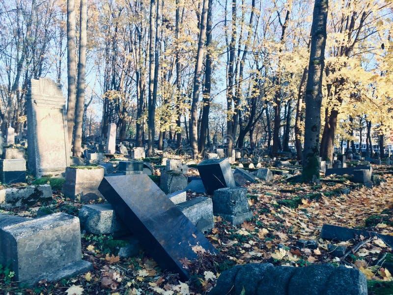 Vecchio Cementary ebreo immagini stock libere da diritti