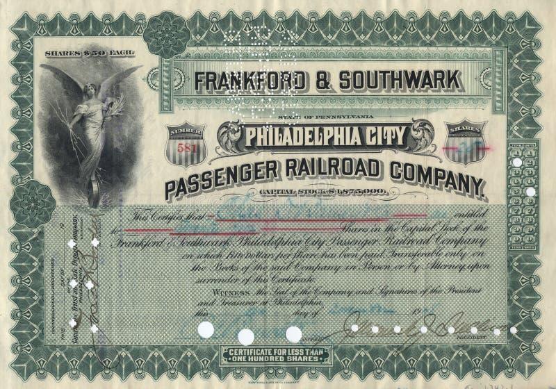 Vecchio certificato di riserva 3 immagini stock