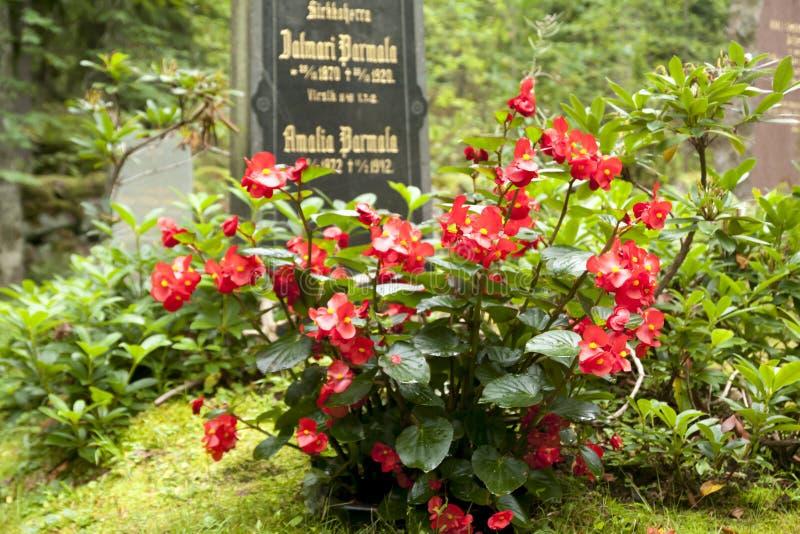 Vecchio cimitero della famiglia di Wrede 4 settembre 2018 - Anjala, Kouvola, Finlandia immagini stock libere da diritti