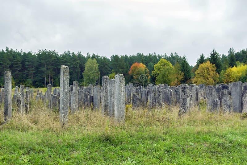 Vecchio cimitero ebreo, Brody, Ucraina immagini stock libere da diritti