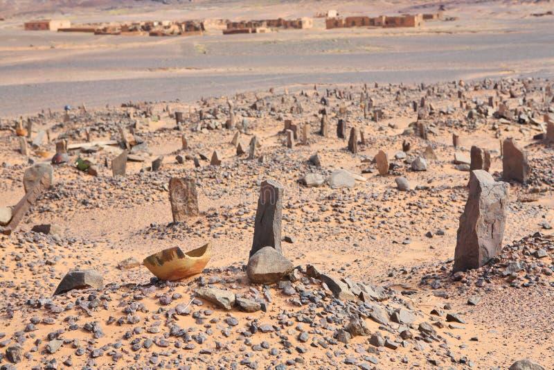 Vecchio cimitero musulmano fotografia stock libera da diritti