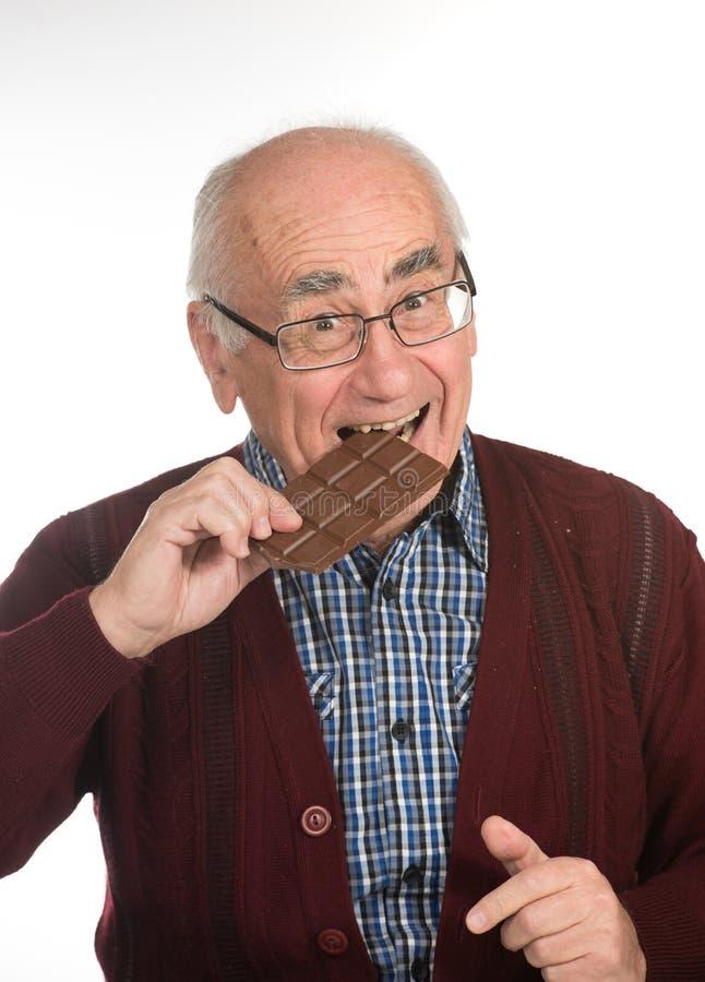 Vecchio cioccolato mangiatore di uomini immagine stock