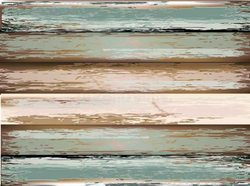 Vecchio, comitati di legno del grunge usati come priorità bassa illustrazione di stock