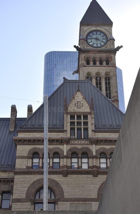 Vecchio comune da Phillips Nathan Square di Toronto nella provincia Canada di Ontario fotografie stock