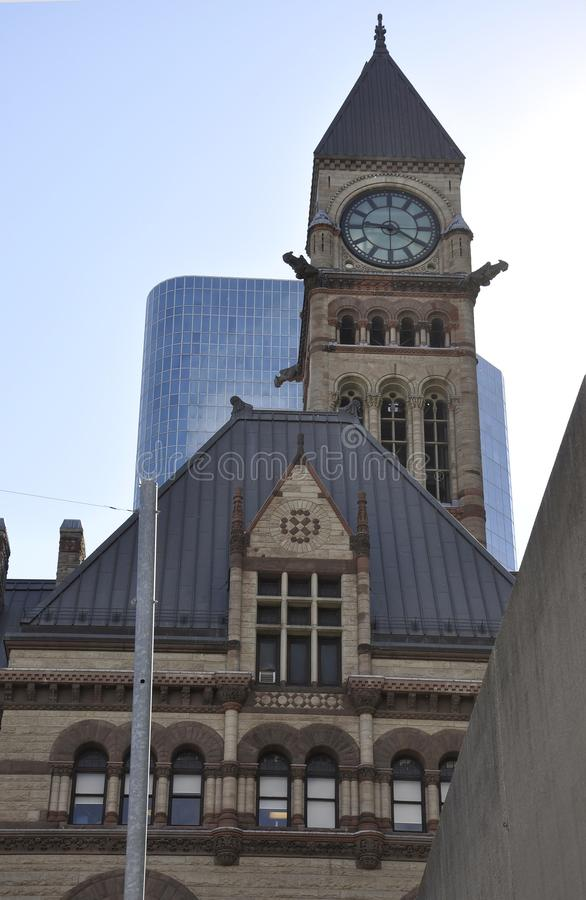 Vecchio comune da Phillips Nathan Square di Toronto nella provincia Canada di Ontario immagine stock