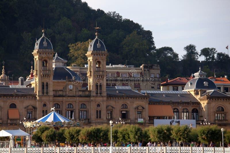 Vecchio comune, San Sebastian, Spagna immagine stock libera da diritti