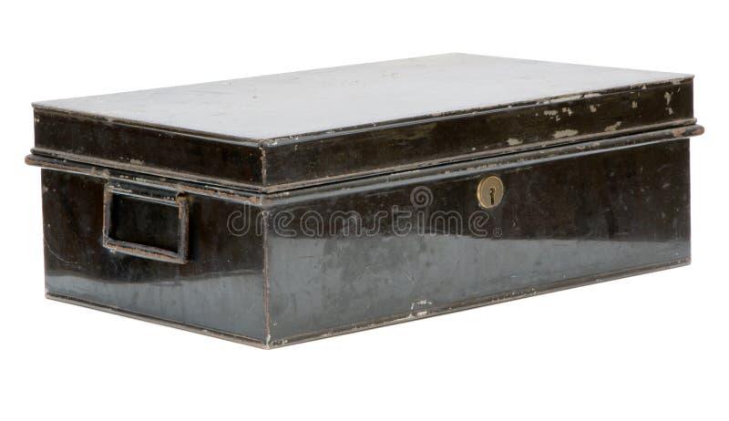 Vecchio contenitore di metallo fotografia stock