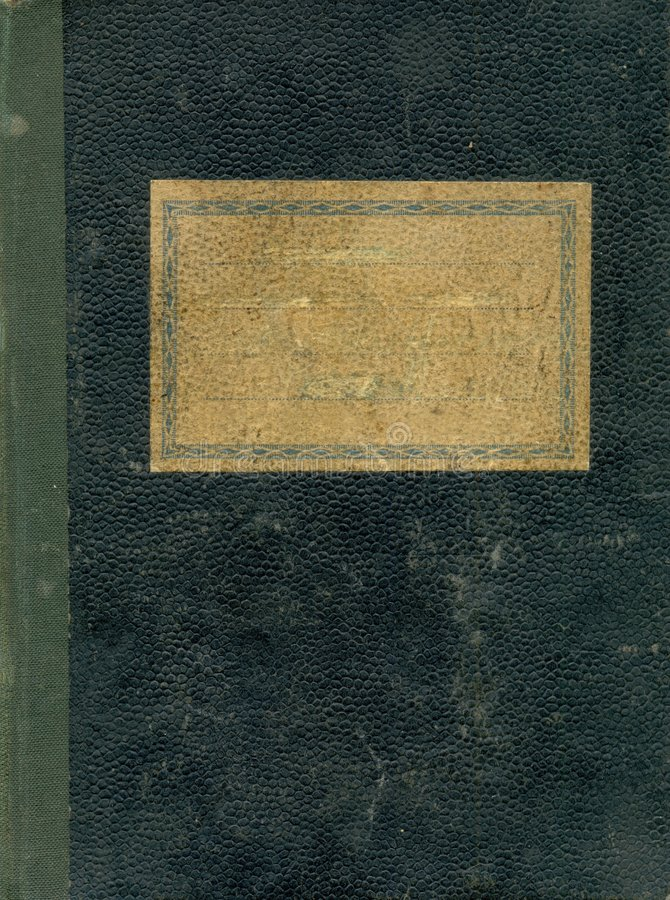 Vecchio coperchio del taccuino fotografia stock