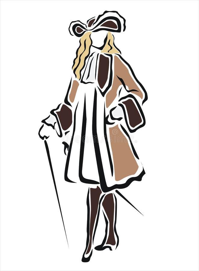 Vecchio costume illustrazione vettoriale