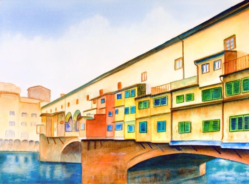 Vecchio de Ponte ilustração stock