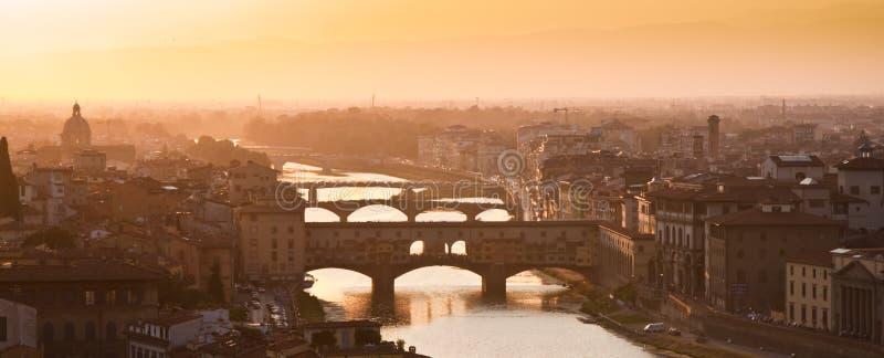 vecchio de ponte de firenze Florence Italie de passerelle vieux photo libre de droits