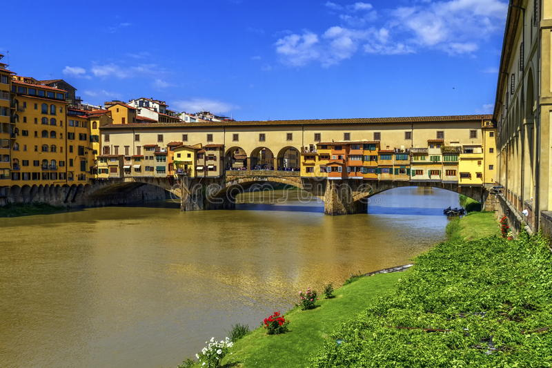 Vecchio de Ponte, Florença, Firenze, Italia fotos de stock royalty free