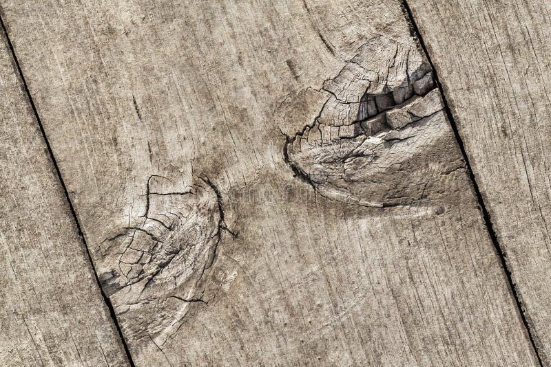 Vecchio dettaglio annodato incrinato stagionato di struttura di lerciume della tavola di pavimento di legno di pino immagine stock