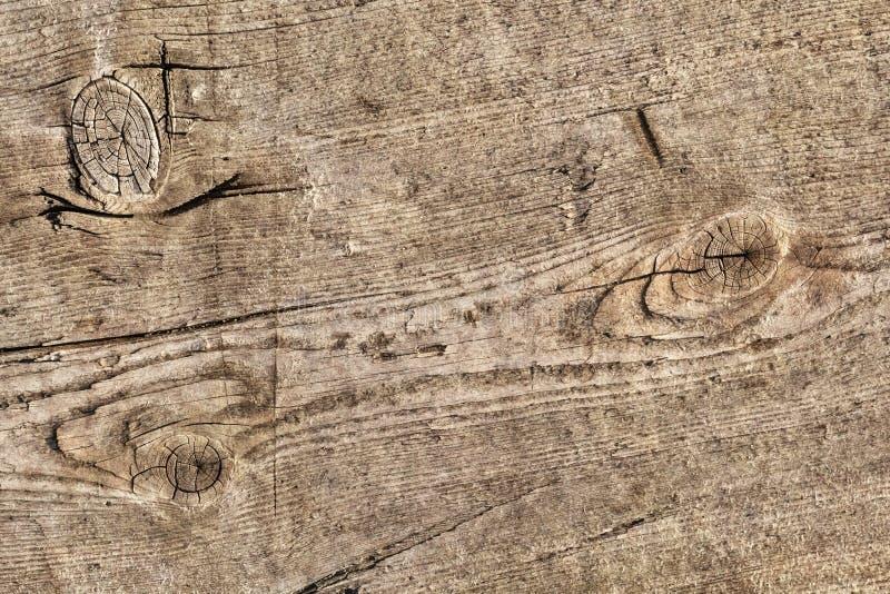 Vecchio dettaglio annodato incrinato stagionato di struttura di lerciume della tavola di pavimento di legno di pino fotografia stock