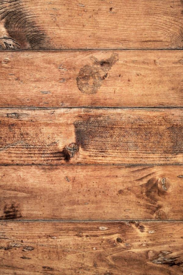 Vecchio dettaglio approssimativo annodato incrinato marcio stagionato di struttura di lerciume delle plance di Pinewood fotografia stock libera da diritti