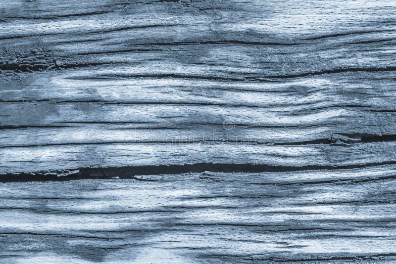 Vecchio dettaglio approssimativo di legno incrinato avariato stagionato di struttura di lerciume dei blu polvere immagine stock