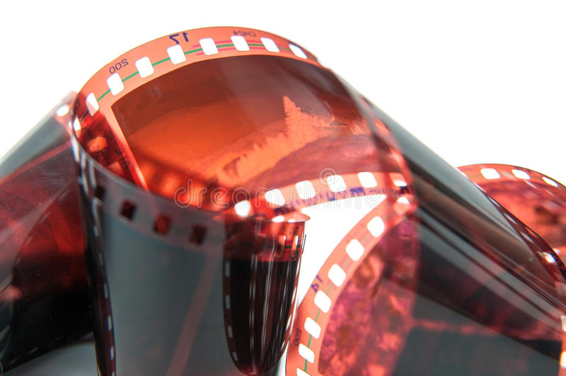 Vecchio dettaglio del film immagine stock