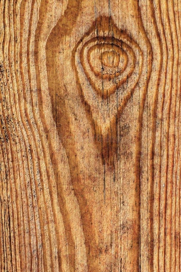 Vecchio dettaglio verniciato annodato stagionato di struttura di lerciume della plancia di Pinewood immagini stock libere da diritti