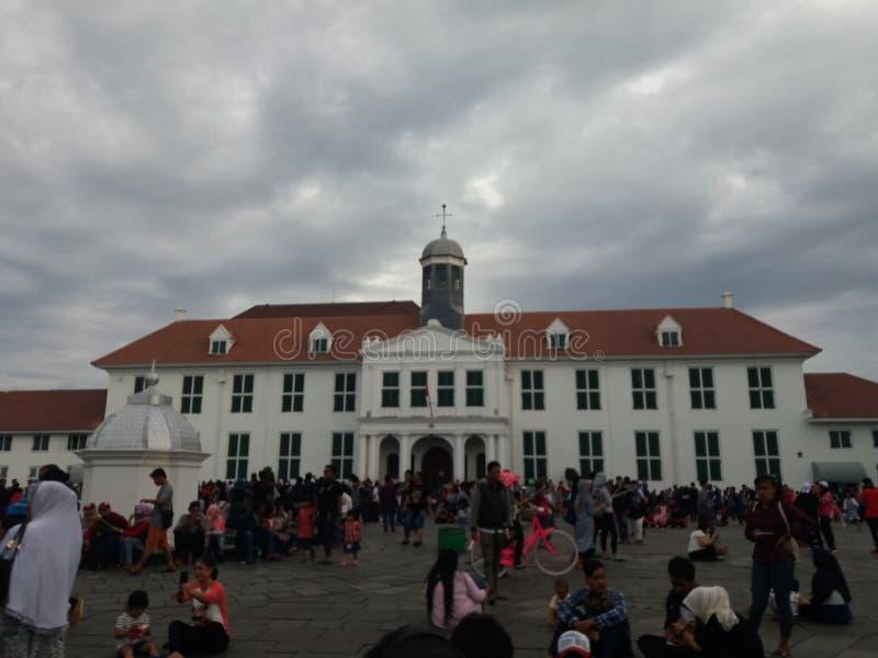 Vecchio ` di Jakarta Città Vecchia del ` di Tua Jakarta della città-Kota, conosciuto ufficialmente come Kota Tua fotografie stock libere da diritti