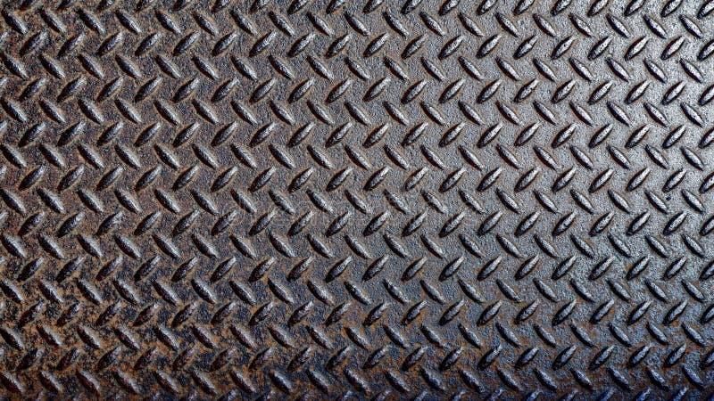 Vecchio di piastra metallica antiscorrimento arrugginito illustrazione di stock
