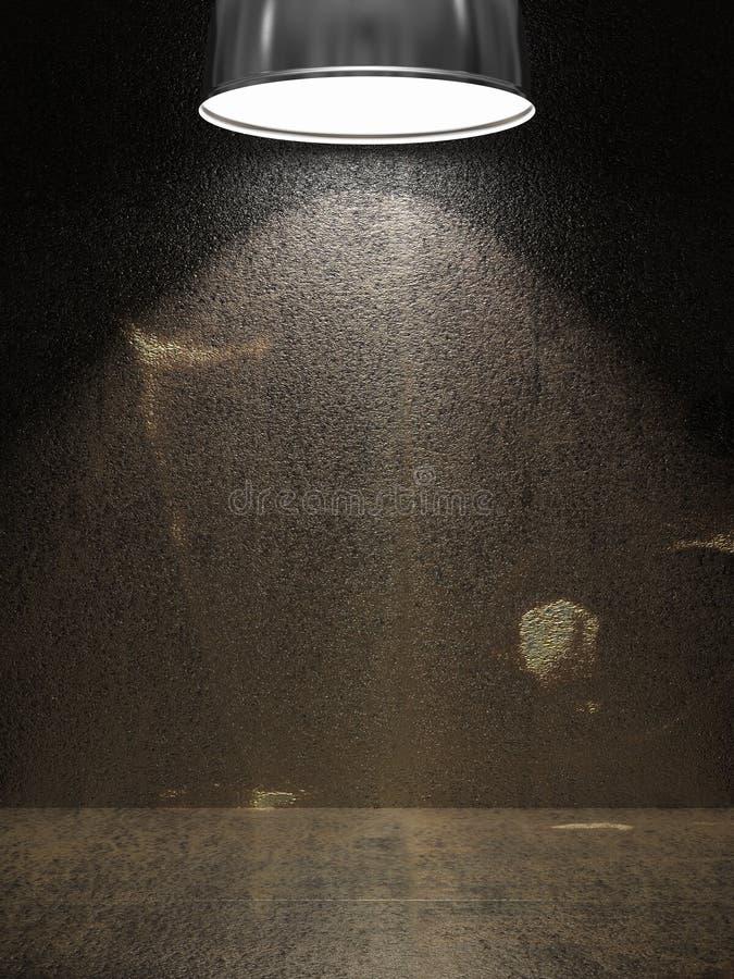 Vecchio di piastra metallica arrugginito illustrazione di stock