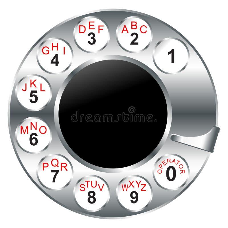 Download Vecchio Disco Della Manopola Del Telefono Illustrazione Vettoriale - Illustrazione di invenzione, chiamata: 7303327