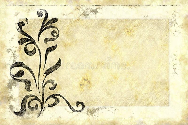 Vecchio disegno di carta floreale illustrazione vettoriale