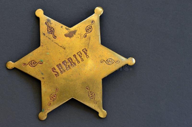 Vecchio distintivo dello sceriffo fotografie stock libere da diritti