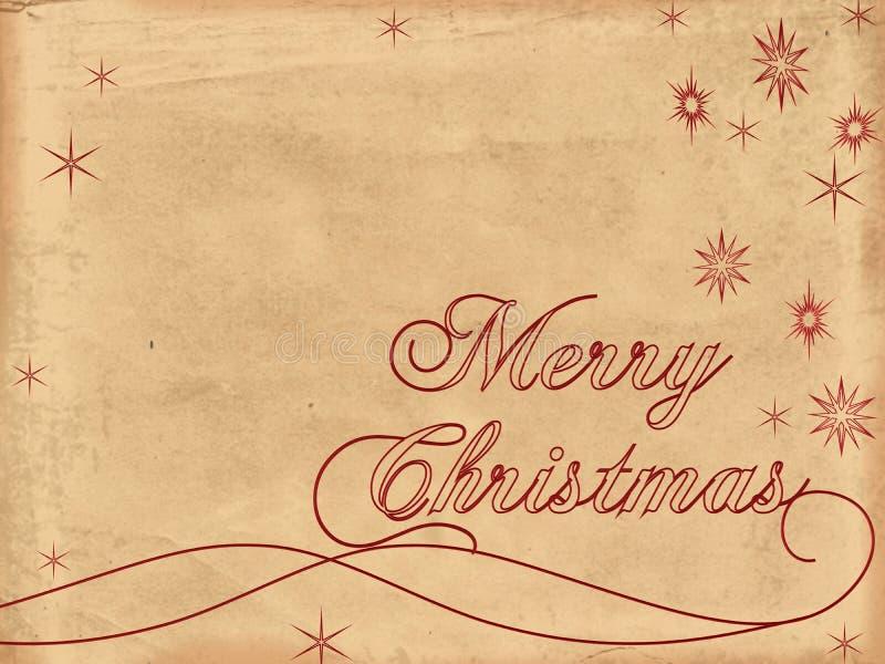 Vecchio documento 2 di Buon Natale illustrazione di stock