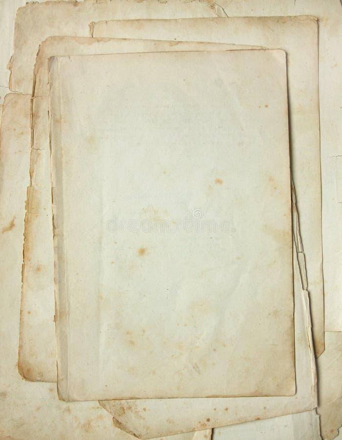 Vecchio documento. fotografia stock