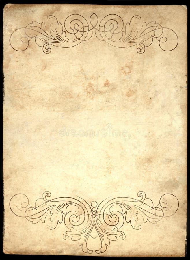 Vecchio documento 3 illustrazione di stock