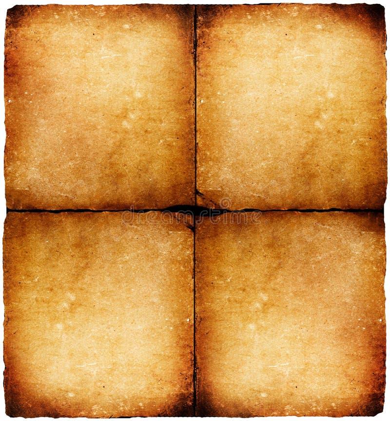 Vecchio documento fotografia stock