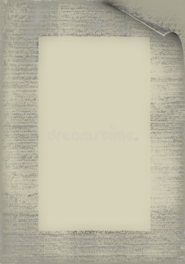 Vecchio documento illustrazione di stock