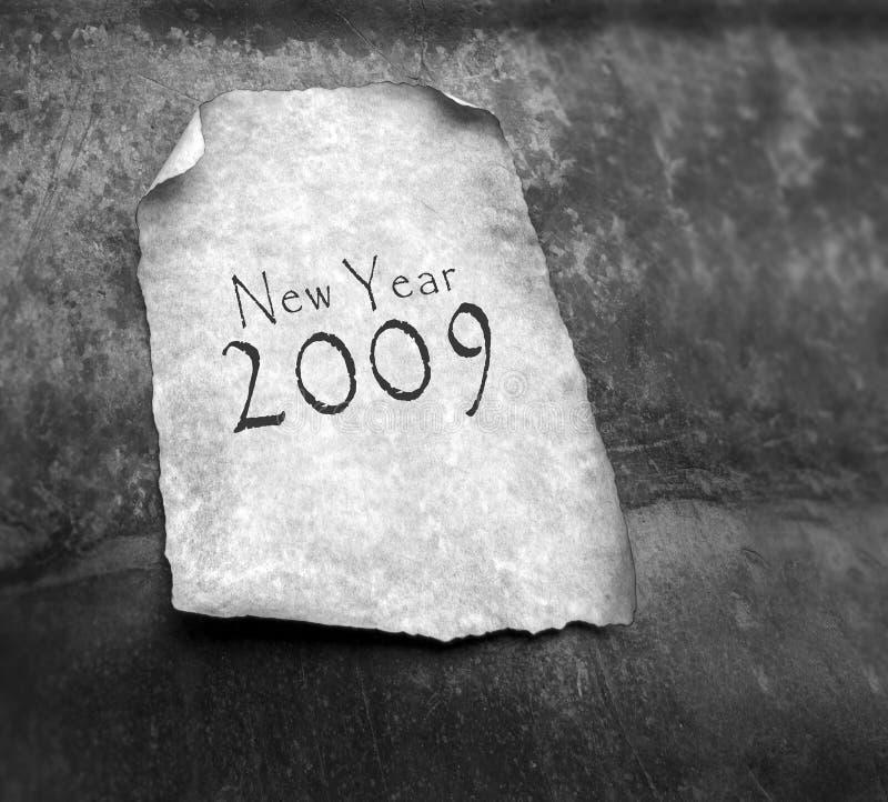 Vecchio documento con 2009 fotografia stock