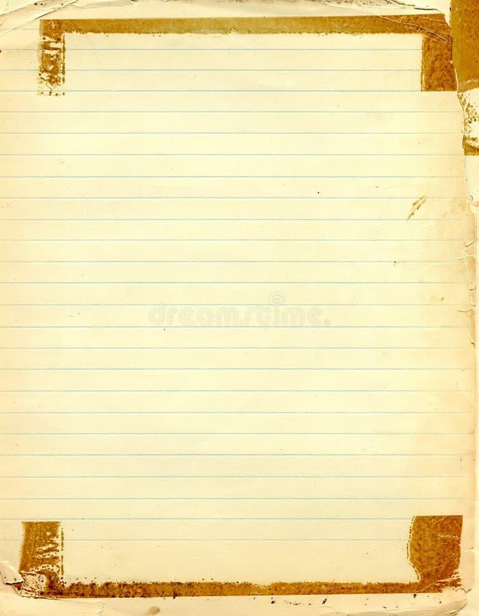 Vecchio documento del grunge immagini stock