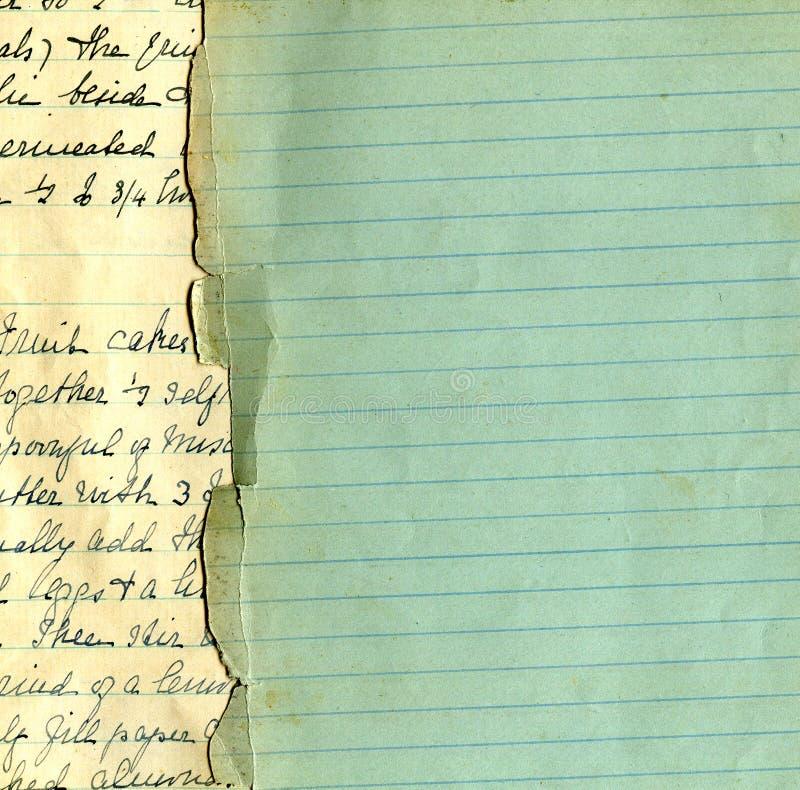 Vecchio documento del grunge con le righe immagini stock libere da diritti