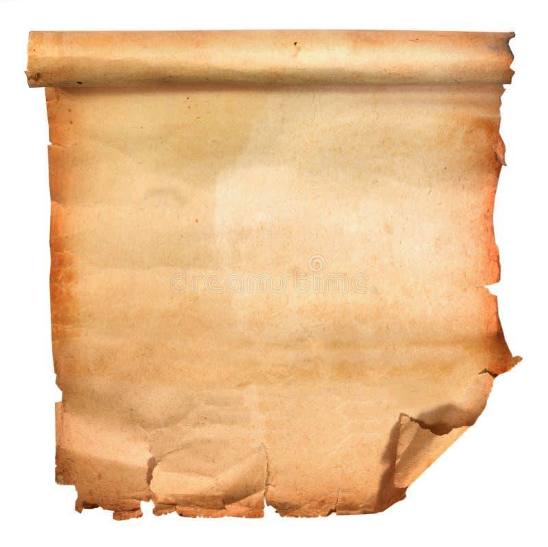Vecchio documento del rotolo immagini stock libere da diritti