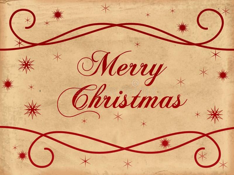 Vecchio documento di Buon Natale royalty illustrazione gratis