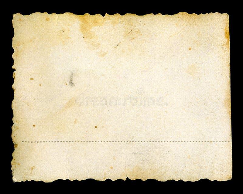 Vecchio documento giallo macchiato della foto grunge fotografia stock libera da diritti