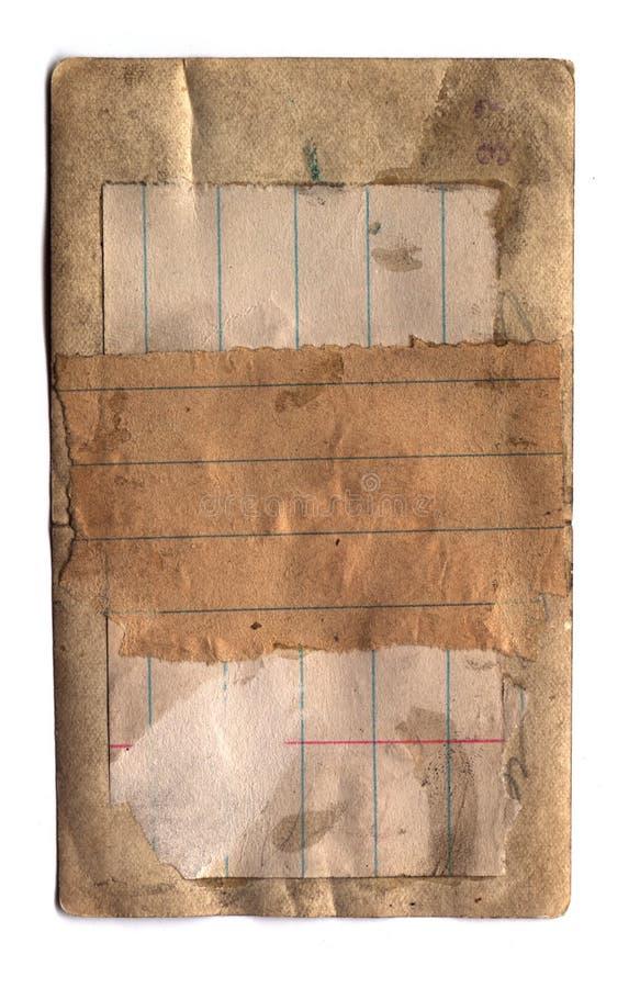 Vecchio documento inserito immagine stock