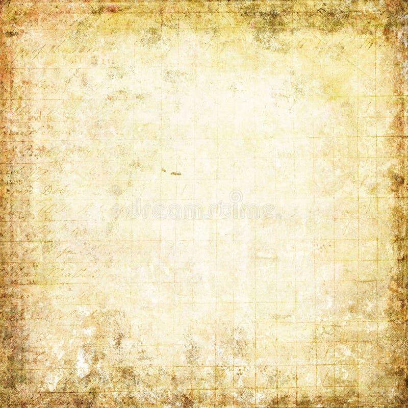 Vecchio documento introduttivo e struttura Grungy fotografie stock