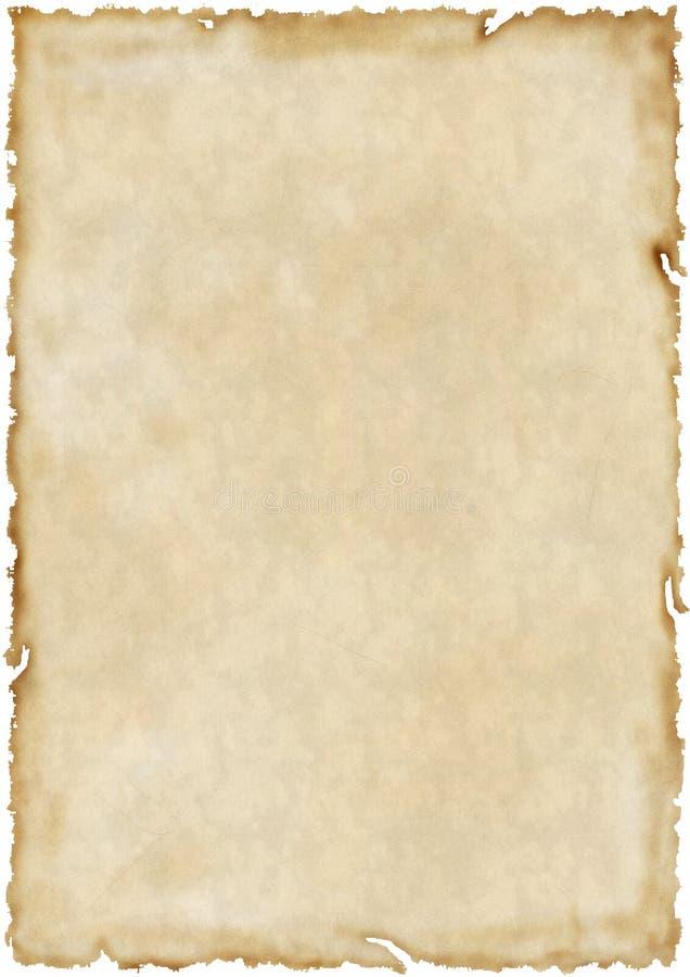 Vecchio documento invecchiato fotografia stock libera da diritti