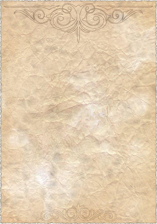 Vecchio documento isolato annata immagine stock