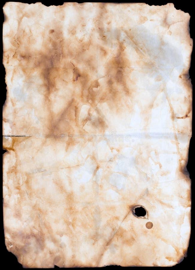 Vecchio documento o pergamena fotografia stock