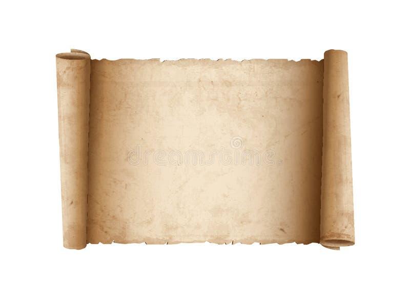 Vecchio documento orizzontale del rotolo illustrazione vettoriale