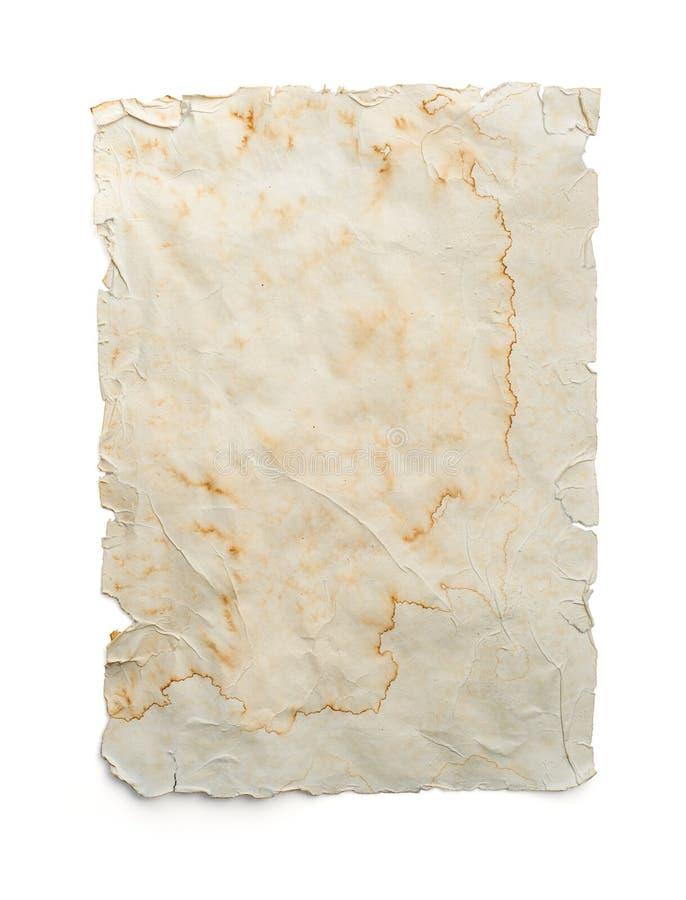 Vecchio documento - programma vuoto del tesoro fotografie stock libere da diritti