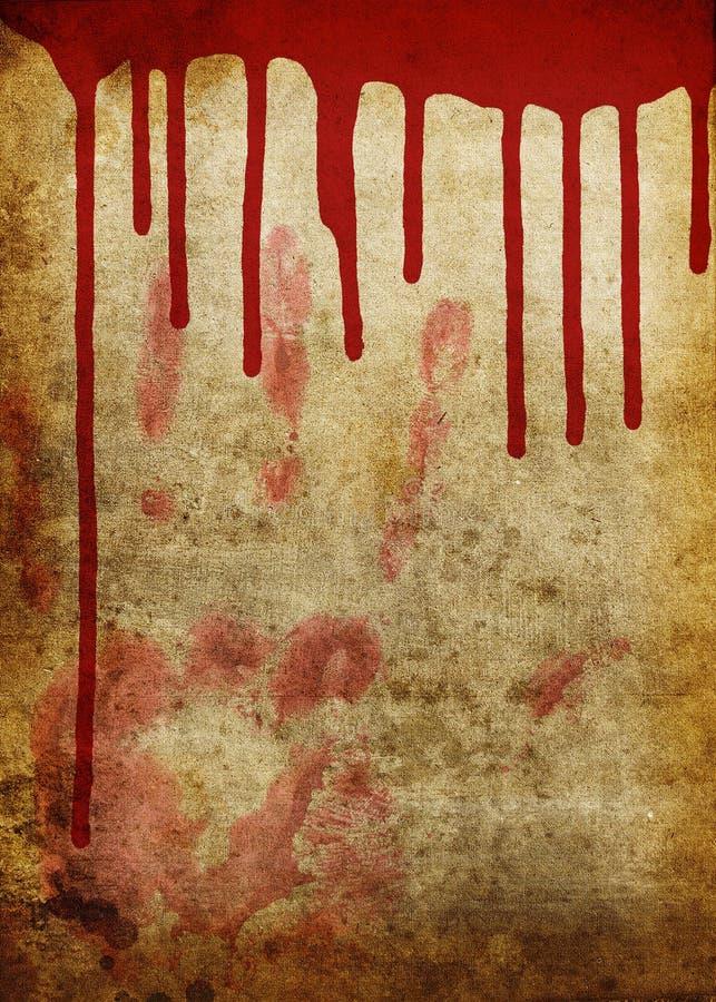 Vecchio documento sanguinante illustrazione vettoriale